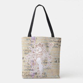 Heraldic Unicorn Rampant dark/light 2-sided Tote Bag