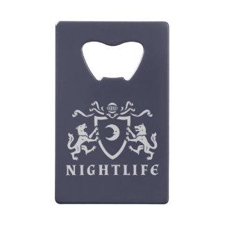 Heraldic Wolves Nightlife Credit Card Bottle Opener