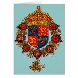 Heráldica con la corona tarjeta de felicitación