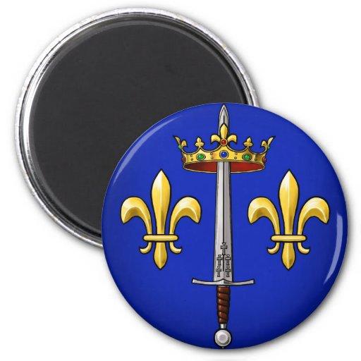 Heráldica de Juana de Arco Jeanne D'Arc Imán Redondo 5 Cm
