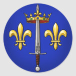 Heráldica de Juana de Arco Jeanne D'Arc Etiqueta Redonda