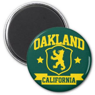 Heráldica de Oakland Imán Redondo 5 Cm