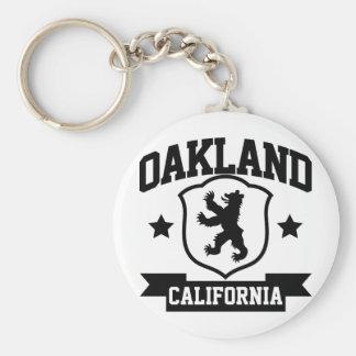Heráldica de Oakland Llavero Redondo Tipo Pin
