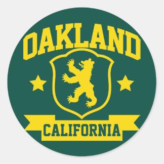 Heráldica de Oakland Etiquetas Redondas
