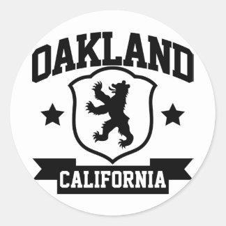 Heráldica de Oakland Pegatina Redonda