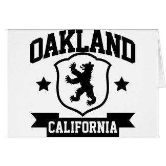 Heráldica de Oakland Tarjeta De Felicitación