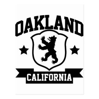 Heráldica de Oakland Tarjeta Postal