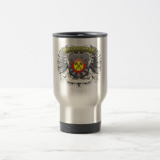 Heráldica del bombero taza de café