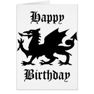 Heráldica del dragón tarjeta de felicitación