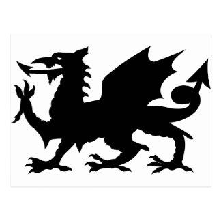 Heráldica del dragón tarjeta postal