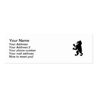 Heráldica del oso plantilla de tarjeta personal