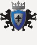 """Heráldica medieval azul 3/4"""" del león camisa del r"""