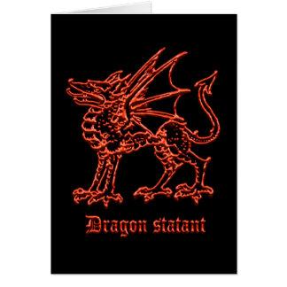 Heráldica medieval del dragón tarjeta de felicitación