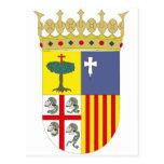 Heráldica oficial del símbolo de España del escudo Postales