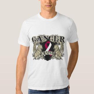 Heráldica para hombre del superviviente del cáncer camisas