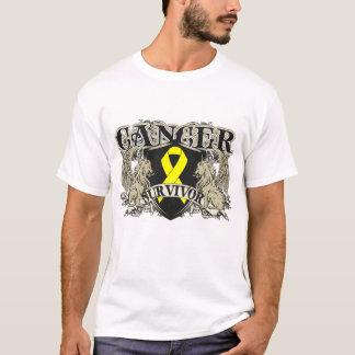 Heráldica para hombre del superviviente del cáncer playera