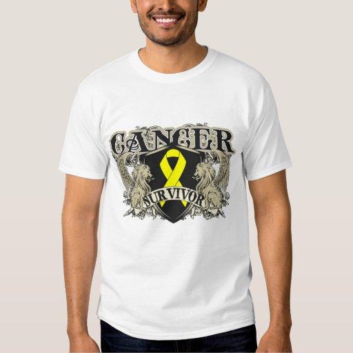 Heráldica para hombre del superviviente del cáncer playeras