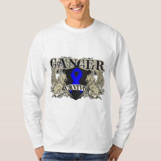 Heráldica para hombre del superviviente del cáncer remera