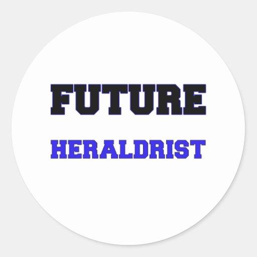 Heraldrist futuro etiqueta redonda
