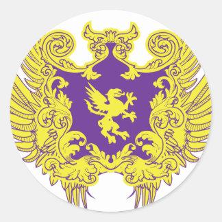 Heraldry Classic Round Sticker