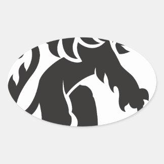 Heraldry Lion Oval Sticker
