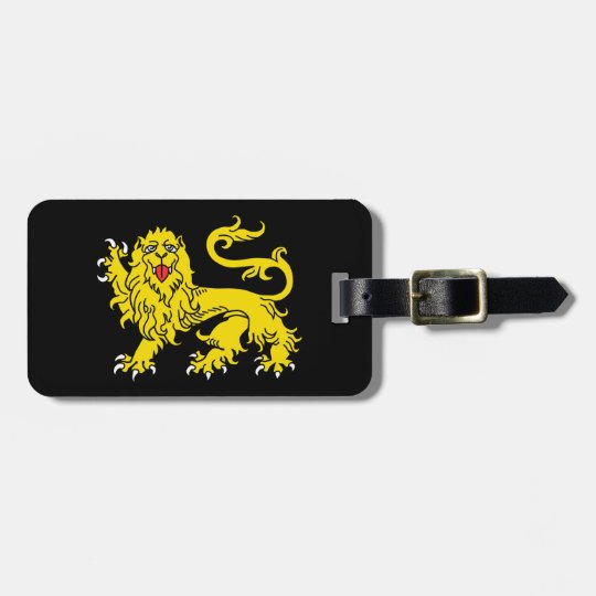 Heraldry Lion Union Jack Luggage Tag