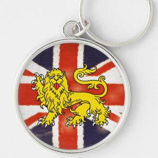 Heraldry Lion Vintage Union Jack Premium Keychain