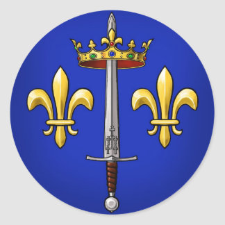 Heraldry of Joan of Arc Jeanne d Arc Round Sticker