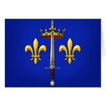 Heraldry of Joan of Arc Jeanne d'Arc Greeting Card