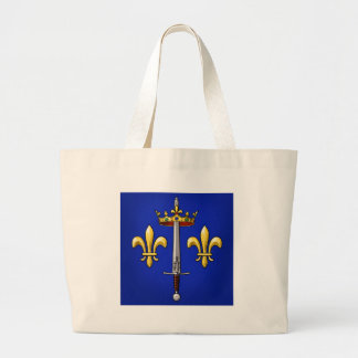 Heraldry of Joan of Arc Jeanne d'Arc Large Tote Bag