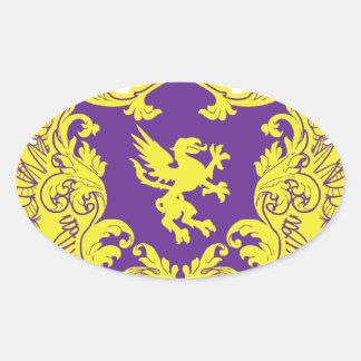 Heraldry Oval Sticker