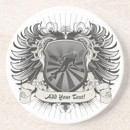 Heraldry Scuba Diving Drink Coaster