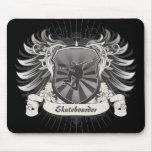 Heraldry Skateboarding Mouse Pad