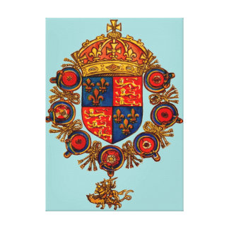 Heraldry with Crown Canvas Print