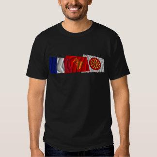 Hérault, Languedoc-Roussillon & France flags T-Shirt