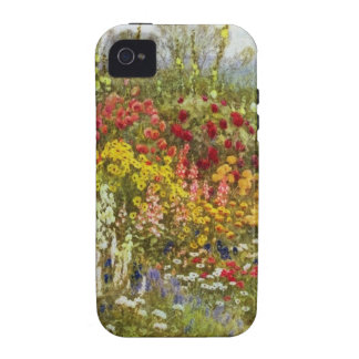 Herb and Flower Border iPhone 4 Case