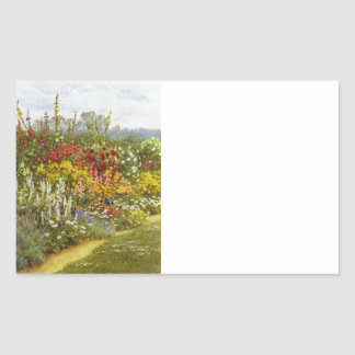 Herb and Flower Border Rectangular Sticker