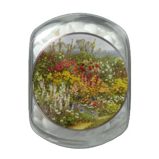 Herb and Flower Pathway Glass Jar