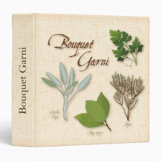 Herb Bouquet Recipe, Bay, Thyme, Sage, Parsley 3 Ring Binder