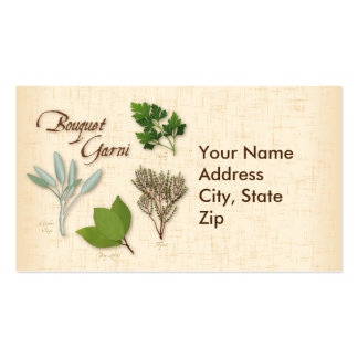 Herb Bouquet, Recipe, Bay, Thyme, Sage, Parsley Double-Sided Standard Business Cards (Pack Of 100)
