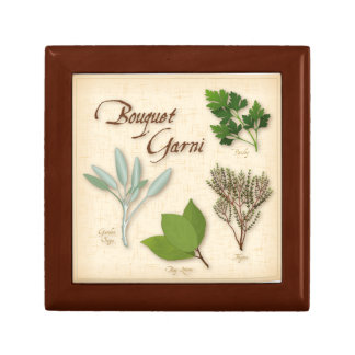 Herb Bouquet, Recipe, Bay, Thyme, Sage, Parsley Keepsake Box