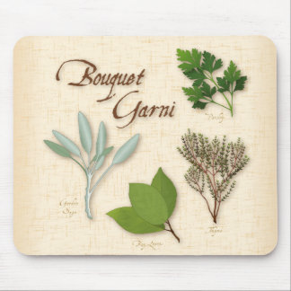 Herb Bouquet, Recipe, Bay, Thyme, Sage, Parsley Mouse Pad