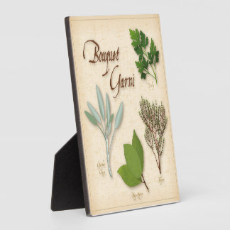 Herb Bouquet, Recipe, Bay, Thyme, Sage, Parsley Plaque