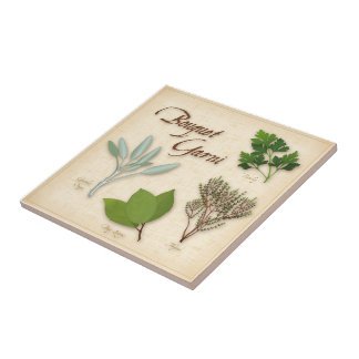 Herb Bouquet, Recipe, Bay, Thyme, Sage, Parsley Tile