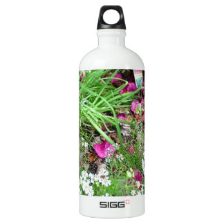 Herb collection chives photograph art aluminum water bottle