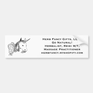 Herb Fancy Go Natural Bumper Sticker