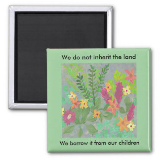 Herb Garden magnet with inspirational quotation