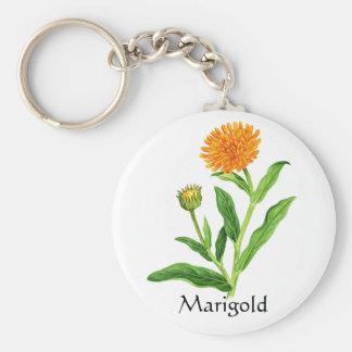 Herb Garden Series - Marigold Basic Round Button Keychain