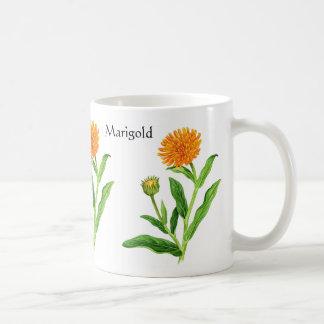 Herb Garden Series - Marigold Classic White Coffee Mug