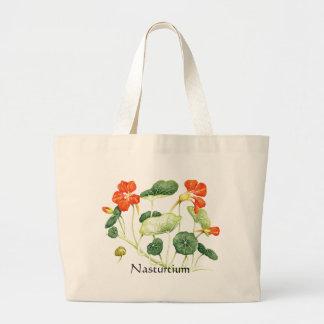 Herb Garden Series - Nasturtium Large Tote Bag